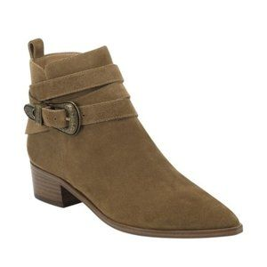 MARC FISHER Taupe Suede Leather Pointed Toe Boots